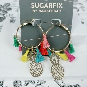 Baublebar Sugarfix pineapple and tassel hoops